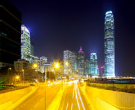Hong Kong cityscape and roadway Stock Images