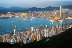 The Hong Kong cityscape seen from High West Royalty Free Stock Photos