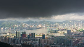 Hong Kong-cityscape timelapse stock footage