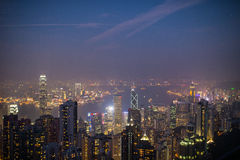 Hong Kong cityscapes Royaltyfria Bilder