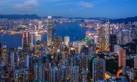Hong Kong cityview Royaltyfri Fotografi