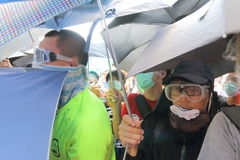Hong Kong Class Boycott Campaign 2014 Stock Afbeelding