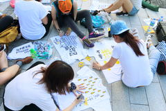 Hong Kong Class Boycott Campaign 2014 Royalty Free Stock Image