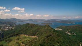 Hong Kong Clear Water Bay Drone Shot. Hong Kong Sai Kung Clear Water Bay Drone Shot Royalty Free Stock Photos