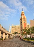 Hong Kong clock tower Stock Photos