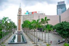 Hong Kong Clock Tower et ses abords, le point de repère célèbre en Hong Kong ont placé sur le SH du sud Photos libres de droits