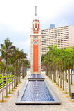 Hong Kong Clock Tower in Hong Kong Stockbilder