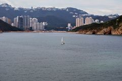 Hong Kong coastline Royalty Free Stock Images