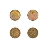Hong Kong collection de cinquante pièces de monnaie de cents Image stock