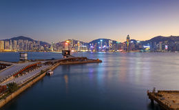 Hong Kong comercial container port Stock Image