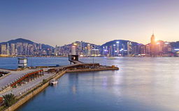 Hong Kong comercial container port Stock Photos