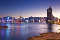 Hong Kong comercial container port Stock Images