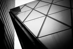 Hong Kong Commercial Building Black & branco Imagens de Stock