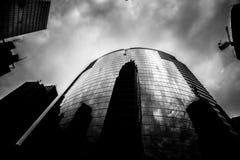 Hong Kong Commercial Building Black & branco Imagem de Stock