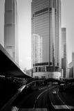Hong Kong Commercial Building Black & branco Imagens de Stock Royalty Free