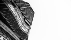 Hong Kong Commercial Building Black & branco Fotos de Stock Royalty Free