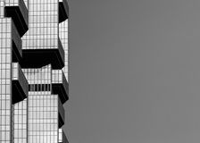 Hong Kong Commercial Building Black et blanc Images stock