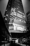 Hong Kong Commercial Building Black u. Weiß Lizenzfreies Stockbild