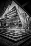 Hong Kong Commercial Building Black u. Weiß Stockfotografie