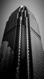 Hong Kong Commercial Building Black u. Weiß Lizenzfreie Stockfotos