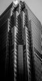 Hong Kong Commercial Building Black y blanco Fotografía de archivo libre de regalías