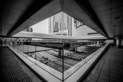 Hong Kong Commercial Building Black y blanco Fotos de archivo libres de regalías