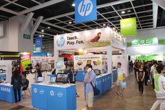 Hong Kong Computer & festival 2013 di comunicazioni Fotografia Stock