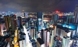 Hong Kong con costruzione ammucchiata Immagine Stock Libera da Diritti