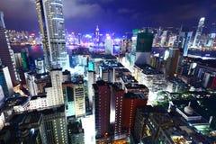 Hong Kong con i molti alta costruzione di aumento Fotografia Stock