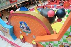 Hong Kong 2015 CONTRE l'événement de jeu de Bomberman Photo libre de droits