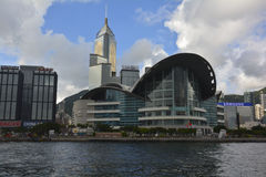 Hong Kong Convention and Exhibition Centre. ,famous scenic sport in HongKong Royalty Free Stock Image