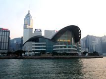 Hong Kong Convention and Exhibition Centre. In China Stock Photo