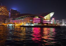 Hong Kong Convention and Exhibition Centre. During Christmas in China Royalty Free Stock Images
