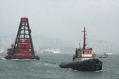 Hong-Kong costa afuera imagenes de archivo