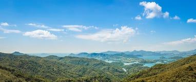Hong Kong Countryside-landschapspanorama Royalty-vrije Stock Afbeeldingen