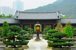 Hong Kong : couvent de bouddhiste de lin de chi photographie stock libre de droits