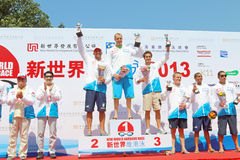Hong Kong Cross Harbour Race 2013 Images stock