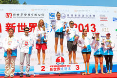 Hong Kong Cross Harbour Race 2013 Image stock