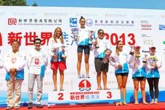 Hong Kong Cross Harbour Race 2013 Imagem de Stock