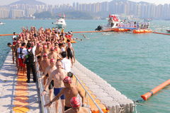 Hong Kong Cross Harbour Race 2013 Fotografia Stock Libera da Diritti