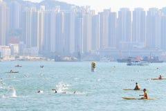 Hong Kong Cross Harbour Race 2013 Stock Photography