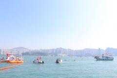 Hong Kong Cross Harbour Race 2013 Royalty Free Stock Photos