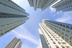 Hong Kong crowded apartment blocks Royalty Free Stock Photography