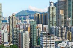 Hong Kong crowded building Stock Photo