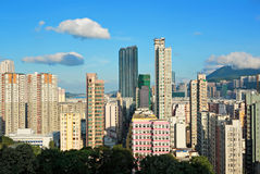 Hong Kong crowded building Royalty Free Stock Photo