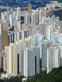 Hong Kong crowded building Stock Images