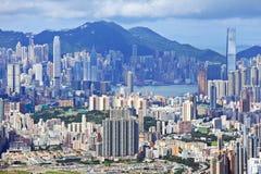 Hong Kong crowded building Royalty Free Stock Photo