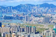Hong Kong crowded building Stock Photos