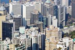 Hong Kong crowded building Royalty Free Stock Image