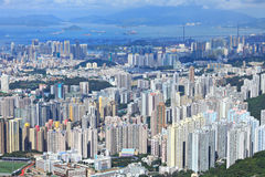 Hong Kong crowded building Stock Photography
